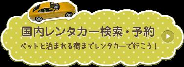 国内レンタカー検索・予約 ペットと泊まれる宿までレンタカーで行こう!