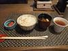 夕食(シラス釜飯と味噌汁)