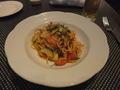 【ヴィラッツァ トラットリア】 太刀魚とズッキーニのパスタ