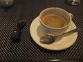 【ヴィラッツァ トラットリア】 夕食後のコーヒー