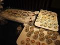 日本料理和泉 ランチビュッフェのコーナー(お刺身、前菜)