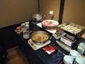 日本料理和泉 ランチビュッフェのコーナー(しゃぶしゃぶ、茶碗蒸し)