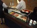 日本料理和泉 ランチビュッフェのコーナー お寿司は目の前で握ってくれます