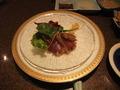 【鉄板焼すみだ:宿泊者限定夕食プラン】戻り鰹のカルパッチョ サラダ仕立て