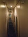 Bソロ(個室寝台)の廊下