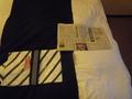 浴衣と折り鶴と新聞
