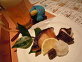 夕食 銀鱈粕漬け焼きと弥彦の椎茸焼き