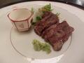 松坂牛のステーキ
