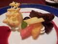 【夕食】デザート盛り合わせ
