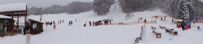 敷地内スキー場全景
