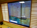 窓からの眺め 簾越し