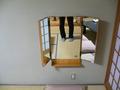 部屋にも三面鏡があります。
