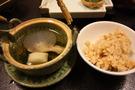 松茸の土瓶蒸しと炊き込みごはん。