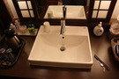貸切風呂の脱衣所の様子。