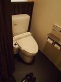 トイレは自動洗浄機能付き。