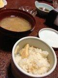 タケノコご飯と