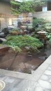穂高荘山がの湯 中庭