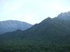 バルコニーから見た山