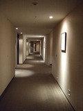客室へ向かう廊下
