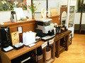 ラウンジのコーヒーコーナー