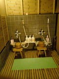 露天風呂洗い場