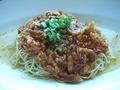 ジャージャー麺 チャイナ―ブルー・茉莉花(ジャスミン)