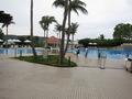 敷地内のプール