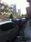 駐車場で渋滞!?