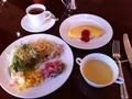 ル・カフェで朝食ブッフェ
