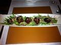 チャイナブルー「胡蝶蘭」の「牛肉のシンガポール醤油炒め」