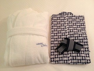 浴衣とバスローブ
