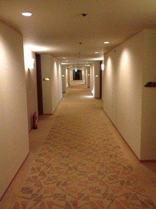 客室フロアの廊下です
