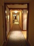客室フロアの廊下がまさしく迷路