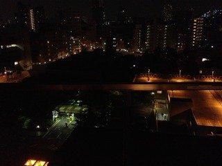 部屋からの眺望(夜景)