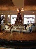 ロビーにはクリスマスツリー