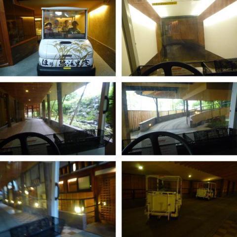 川場温泉かやぶきの源泉湯宿悠湯里庵さんの館内移動用「電動カート」