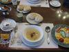 野菜たっぷりヘルシースープの朝食