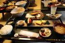 朝食 鮭と白飯