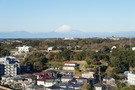 外廊下からは富士山が見えます