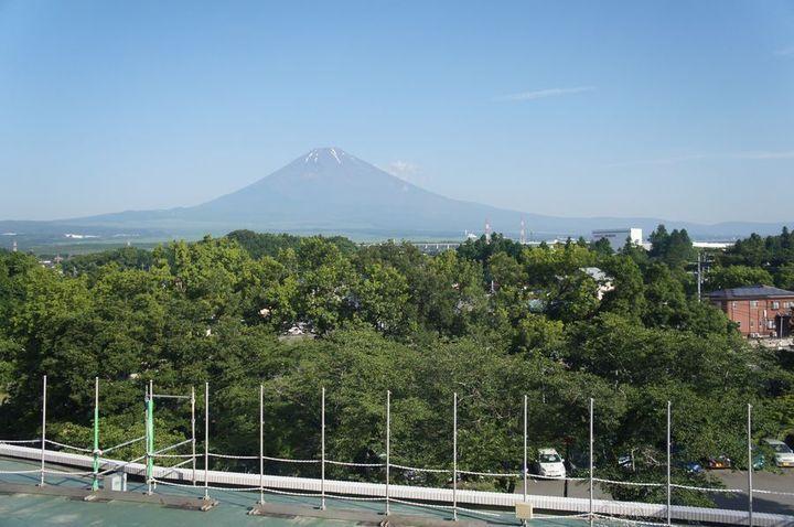 目の前に富士山!