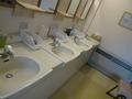 7F大浴場脱衣所洗面台
