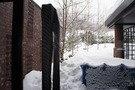 外は雪景色