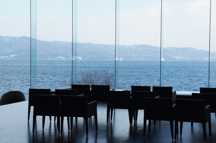 ギャラリー スパリゾート館ロビー階から見える風景
