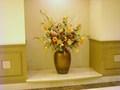 ノースウインドの通路に飾られた花