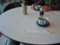丸いテーブル