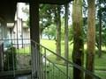 庭園出口のベランダ