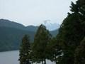 バルコニーから芦ノ湖と富士山
