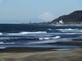 平砂浦から富士山!