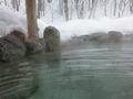 朝の奥の露天風呂