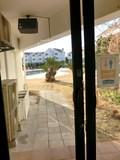 中庭の出入り口